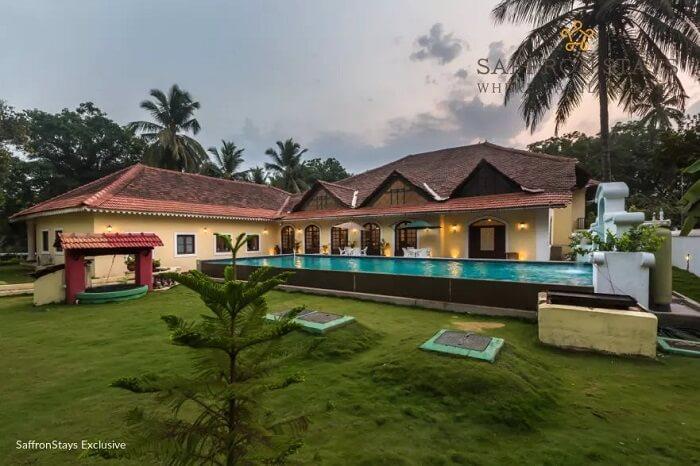 Pool at Nossa Bela Casa in Goa