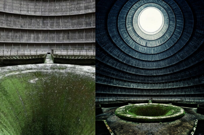 Different shots from the I.M Cooling Tower in Belgium
