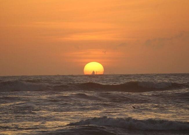 beautiful sunset in Bentota
