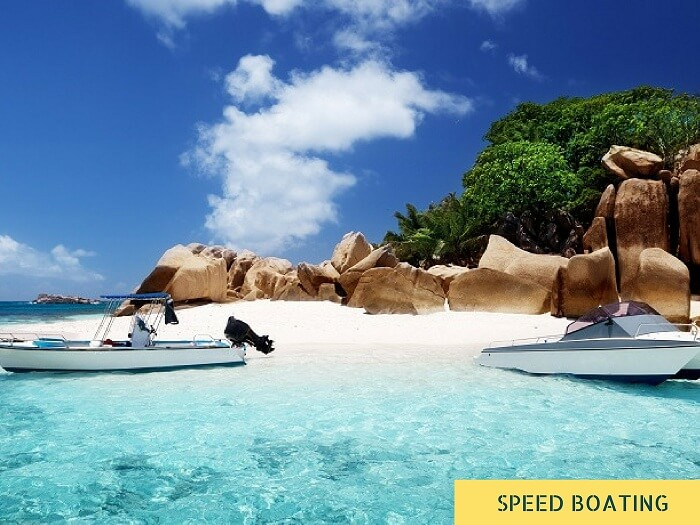 Speed boat rides that can be taken for island hopping in Seychelles