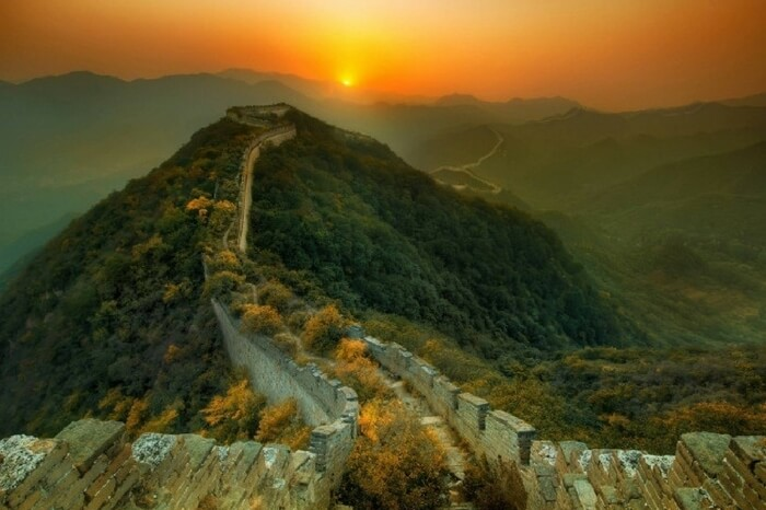 The abandoned regions of the Great Wall of China