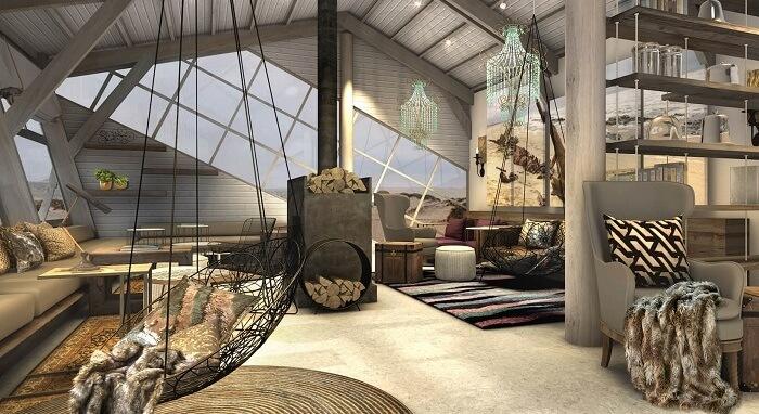Living Room at Shipwreck Lodge