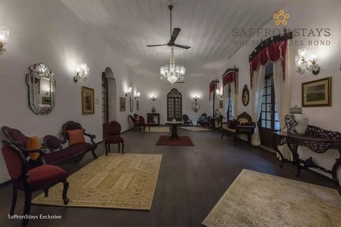 Inside Nossa Bela Casa in Goa