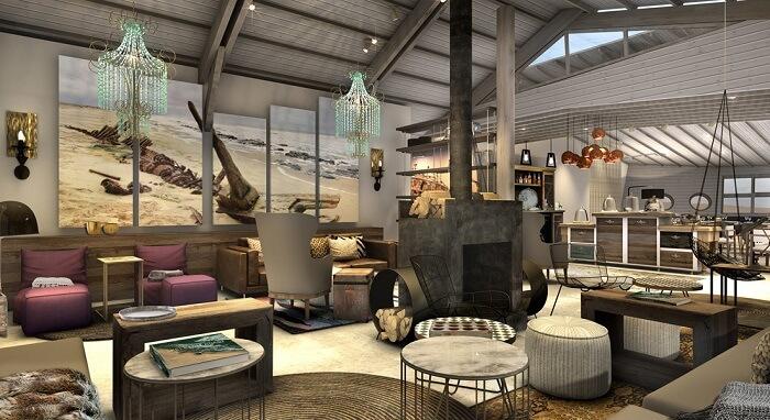 Lounge at Shipwreck Lodge