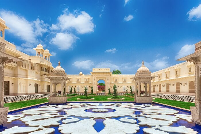 A beautiful shot of the Oberoi Udaivilas in Udaipur