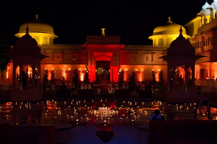 Another scene from a destination wedding at Oberoi Udaivilas in Udaipur