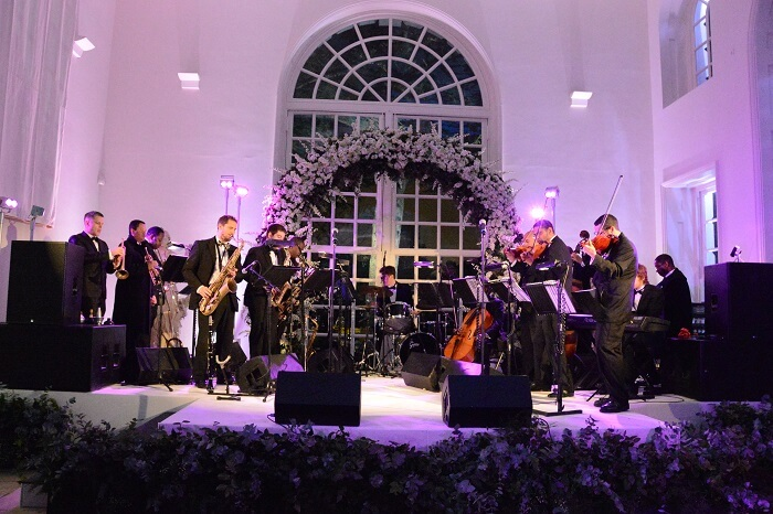 Artists performing at a wedding at Kensington Palace in London
