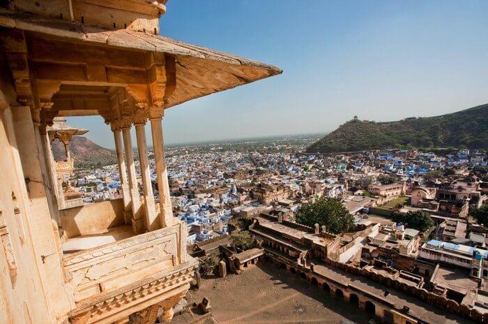 A view of the city from Bundi Palace