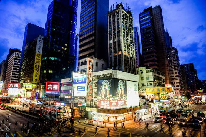The bustling scene of Causeway Bay – one of Hong Kong's major shopping hubs