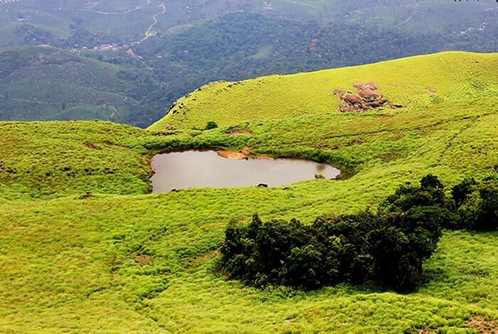 The heart shaped lake in Kerala