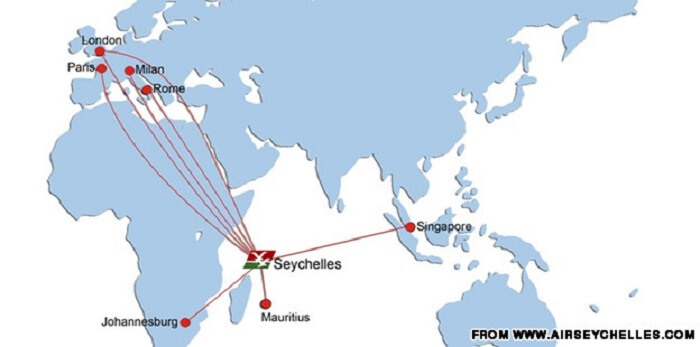 Seychelles is well connected with the world