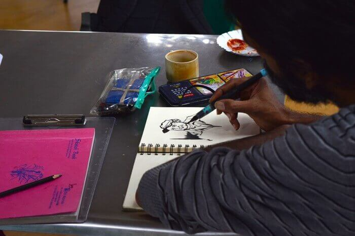 The pencil jamming sessions in Delhi engage art lovers from all sections
