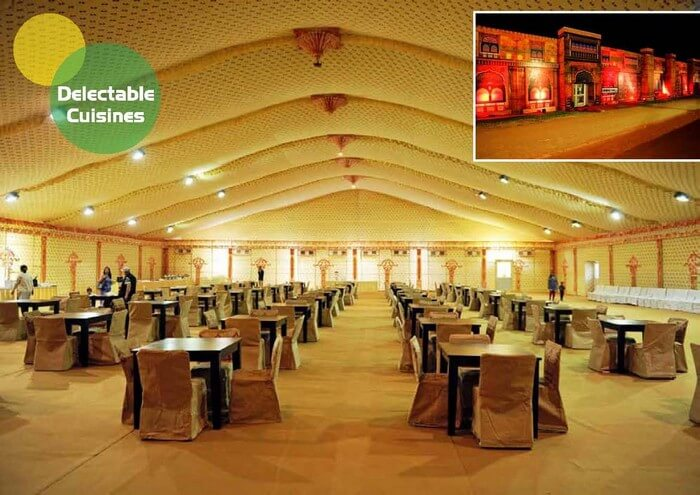 The large dining halls at set up during Rann Utsav