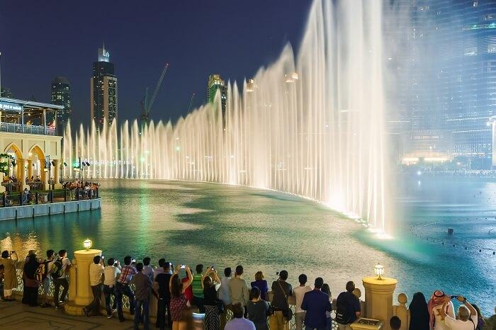 The highest choreographed Dubai Fountain in the 30 acre Burj Khalifa Lake