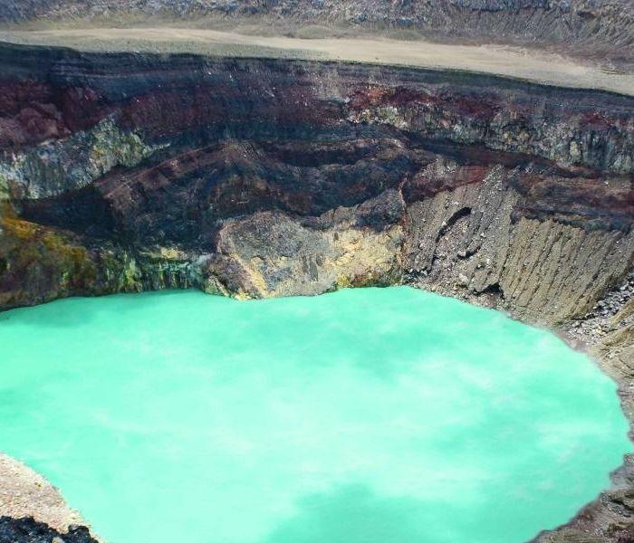 Santa Ana Volcano crater lake, El Salvador
