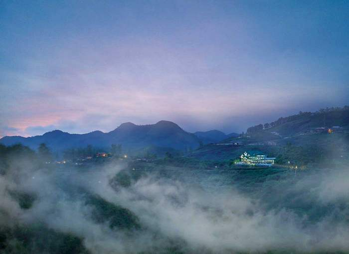 A misty view of the Elysium Garden Hill Resorts