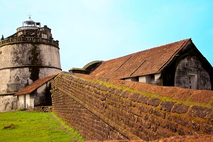 Lighthouse at Aguada fort in Goa