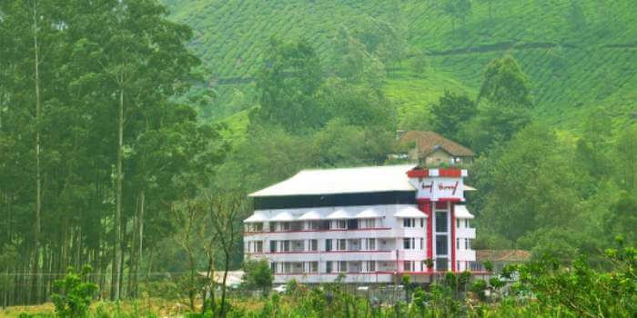 The Hill View resort rests amidst the tea plantations and hills