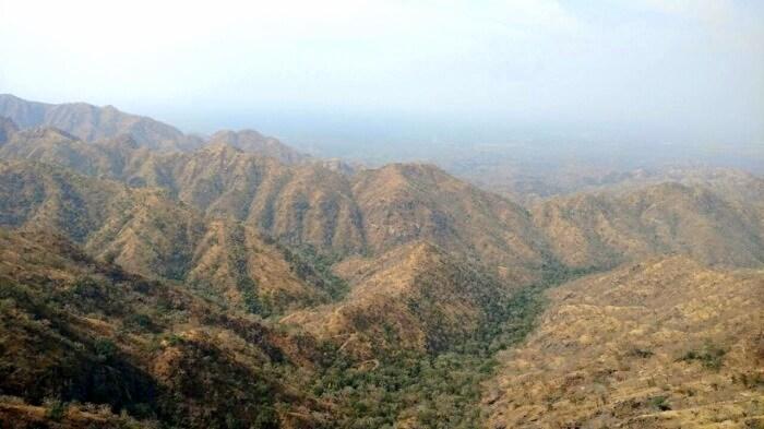 Aravali hills in Rajasthan