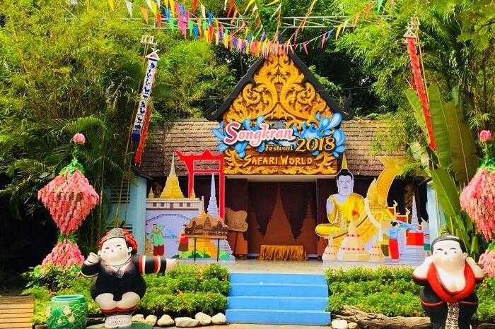 pooja thailand trip day 5 safari world show