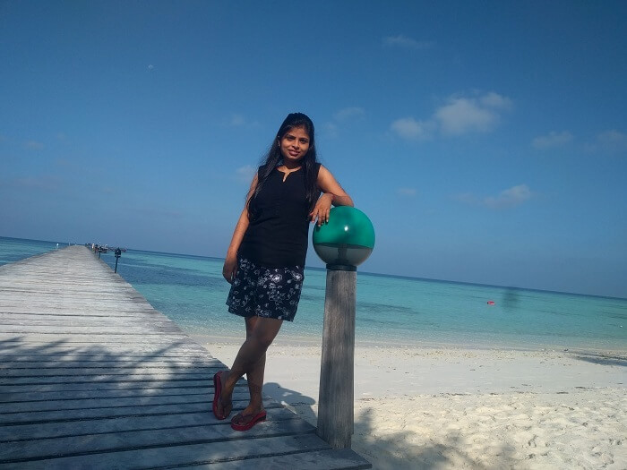 Ranjeets wife in Maldives