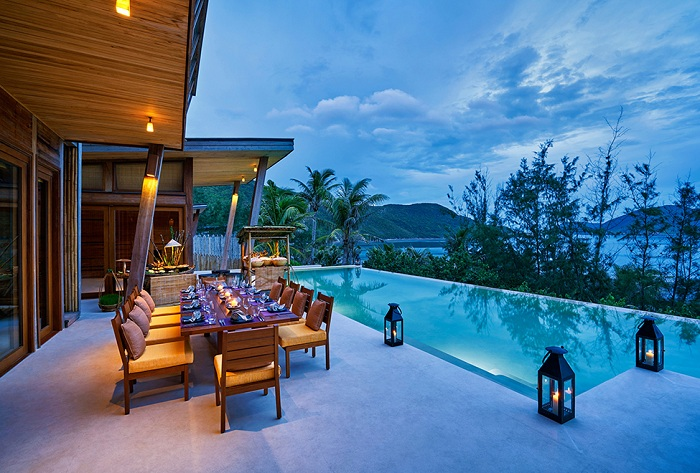 Barbecue inside villa at Six Senses Con Dao in Vietnam