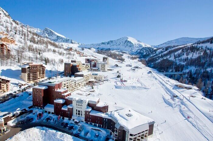 Aerial view of the Isola ski resort