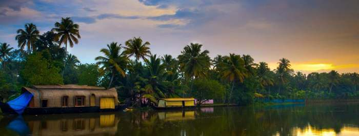 The stunning backwaters of Kumarakom in Kerala