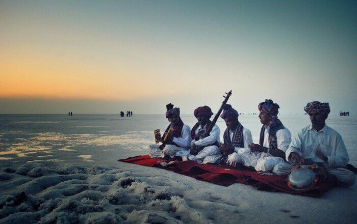 A cultural performance during the Rann Mahotsav