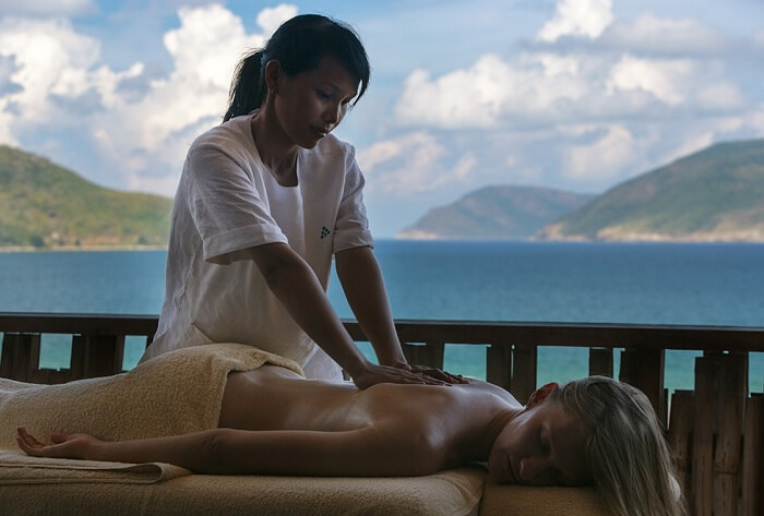 The massage therapies at Six Senses Con Dao resort in Vietnam