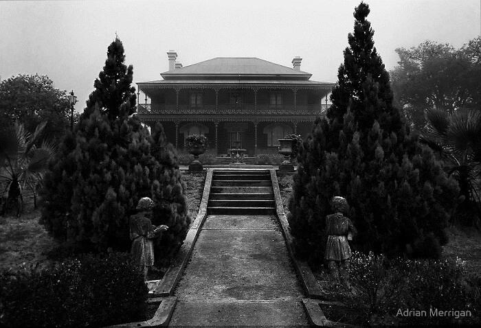 A view of the entrance to the Monte Cristo Homestead in Australia