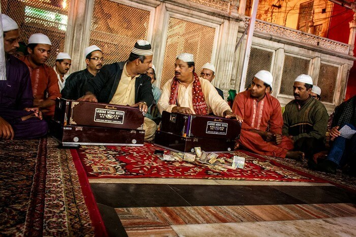 The Qawwali evening at the shrine of Nizamuddin Auliya