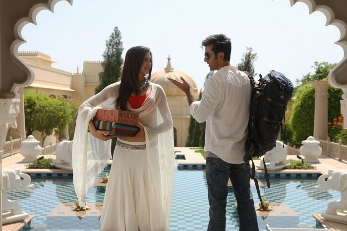Ranbir and Deepika at Oberoi Udaivilas in the movie Yeh Jawani Hai Deewani