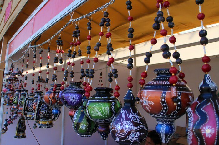 Handicrafts sold during Rann Utsav are a major attraction among the visitors