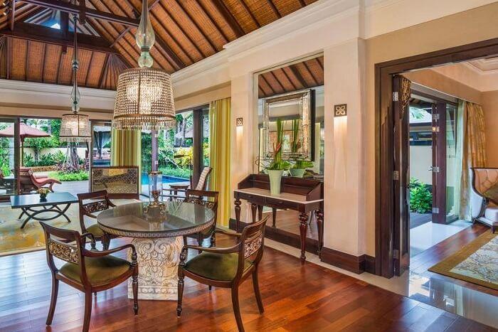 in-villa dining area in St. Regis Bali Resort