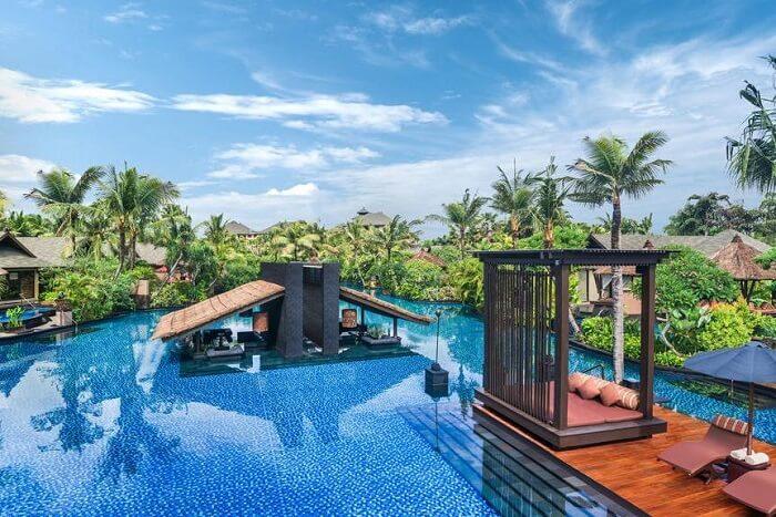 main pool area in St. Regis Bali Resort