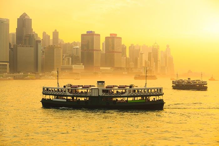 The delightful Star Ferry of Hong Kong between Central and Kowloon