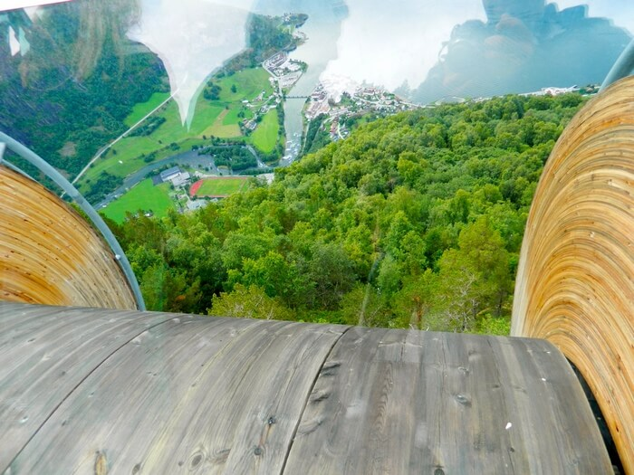 The curvy-illusionary-scary Stegastein Lookout in Norway