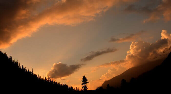 Sunset at Kheer Ganga