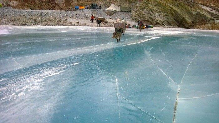 Chadar- sheet of ice on Zanskar river