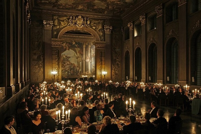 The Painted Hall at the Old Royal Naval College where wedding dinners are held