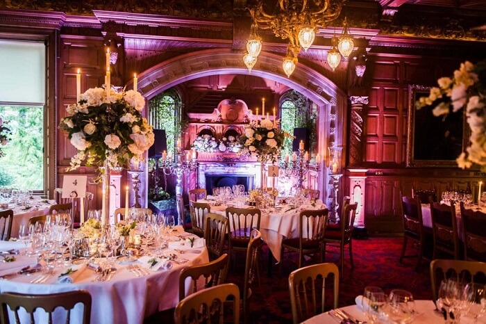 The dining area at the Skibo Palace in London