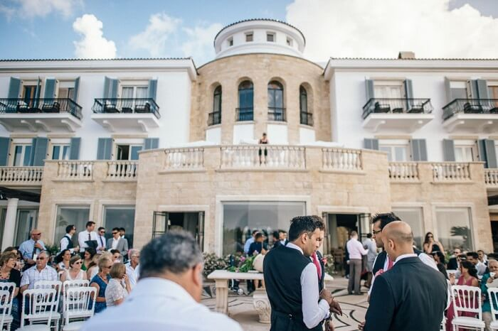 The management looking after all arrangements during a wedding at Anassa in Cyprus