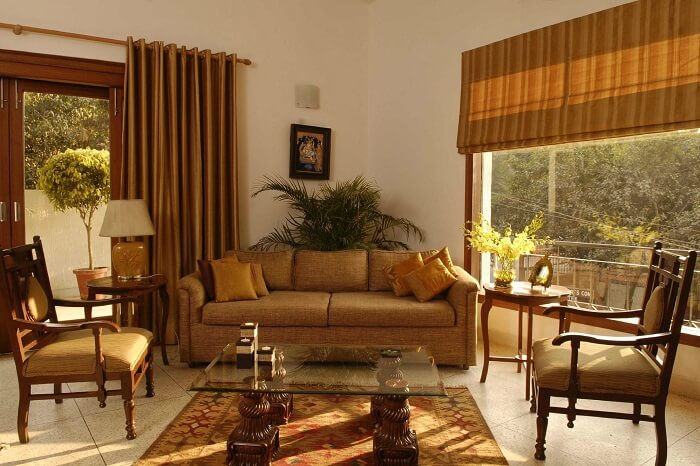 The plush interiors of the grand Thikana in Gulmohar Park