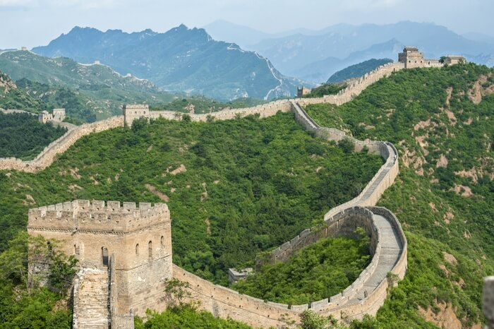 The Great Wall in Hebei province
