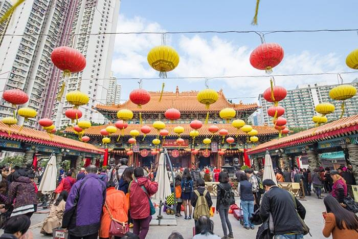 The Wong Tai Sin Temple, among the major tourist places in Hong Kong
