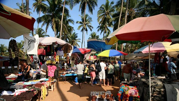 The hippie market in Anjuna beach