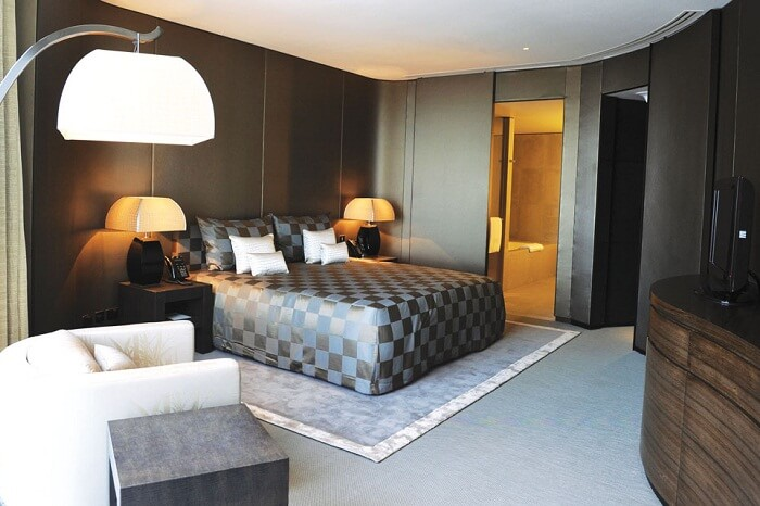 A snap of one of the rooms at Armani Residence