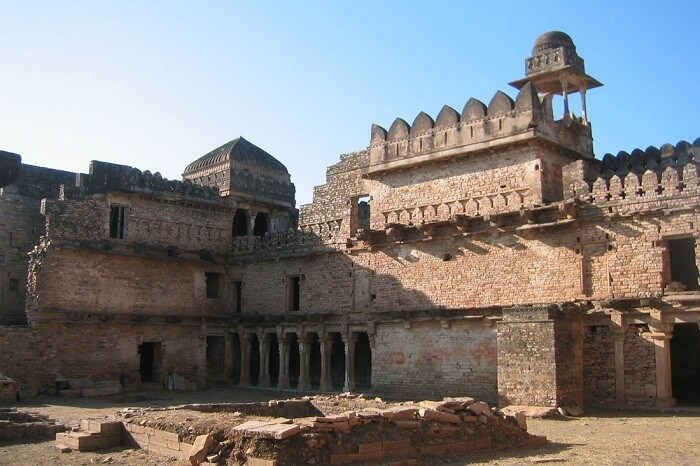 The ancient ruins of the Chanderi Fort in Madhya Pradesh
