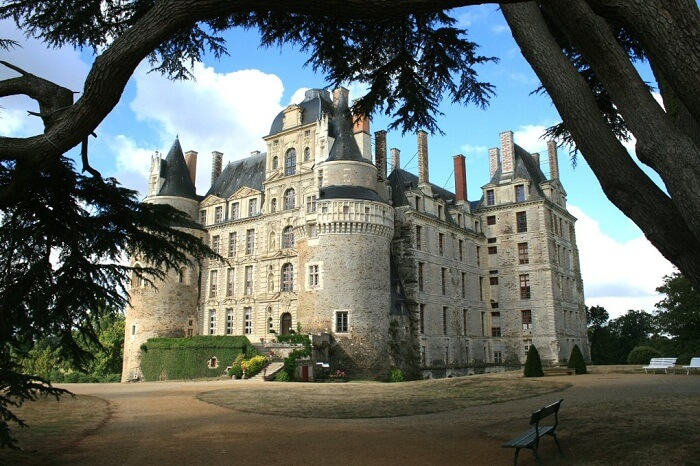 A view of the Chateau de Brissac in Paris from outside